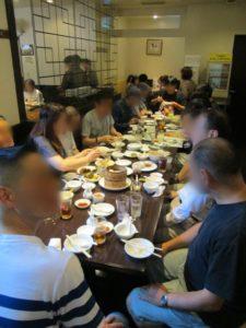 皇朝での食事風景