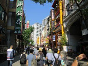 中華街の帰りの風景