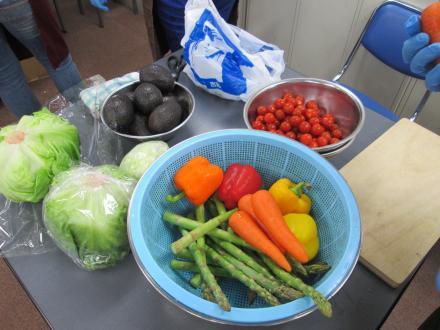 コンソメスープの野菜