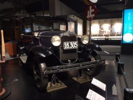 江戸東京博物館の展示タクシー
