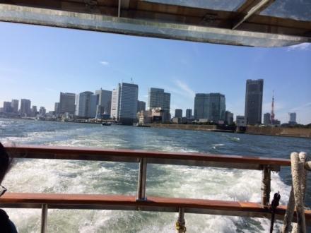 水上バスで浅草・二天門前へ