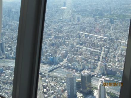 スカイツリー展望回廊(450m)からの眺め