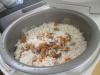 松茸ご飯の炊きあがり