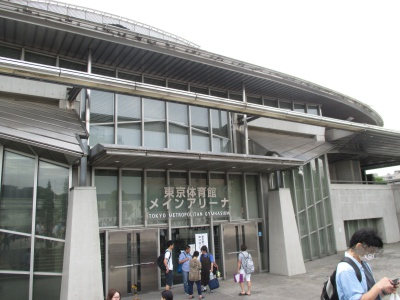 東京体育館メインアリーナの入り口