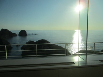 ホテルへ向かう途中の海景色