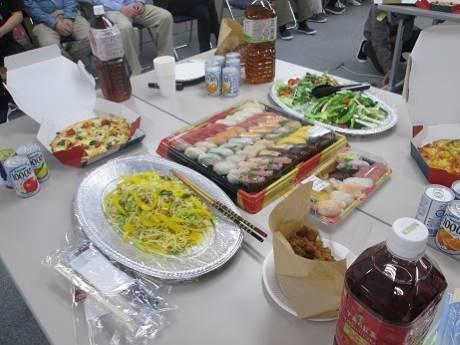 2019年度本郷の森銀杏企画Ⅱ歓送迎会の食べ物や料理