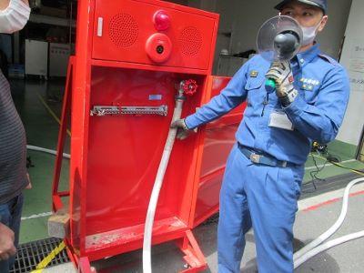 備え付けの消火装置について説明